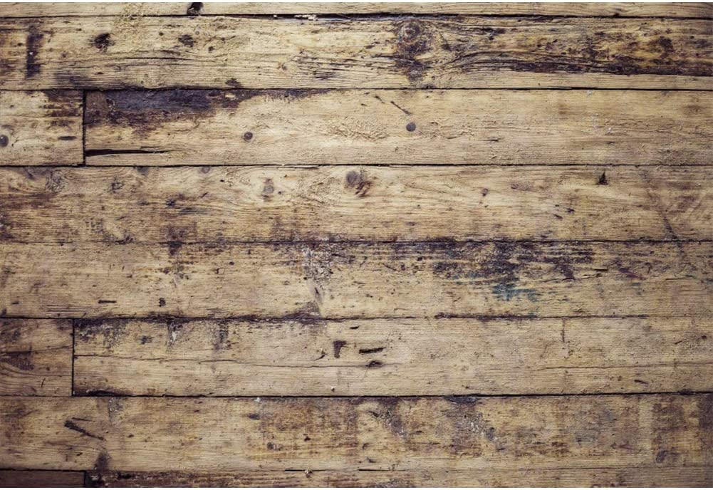 CSFOTO 8x6.5ft Vintage Wood Plank Backdrop Shabby Wooden Board Wall Photography Background Interior Decoration Goods Children Adult Portrait Shooting Photo Booth Studio Video Props Wallpaper