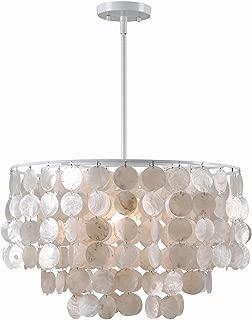 Kenroy Home 93409WH – Shelley 1 Light Pendant, 20 Inch Width, White