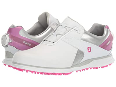 FootJoy Pro SL (White/Silver/Rose) Women