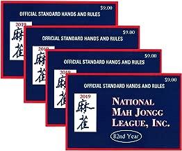National Mah Jongg League 2019 Large Size Card - Mah Jongg Card - 4 Pack