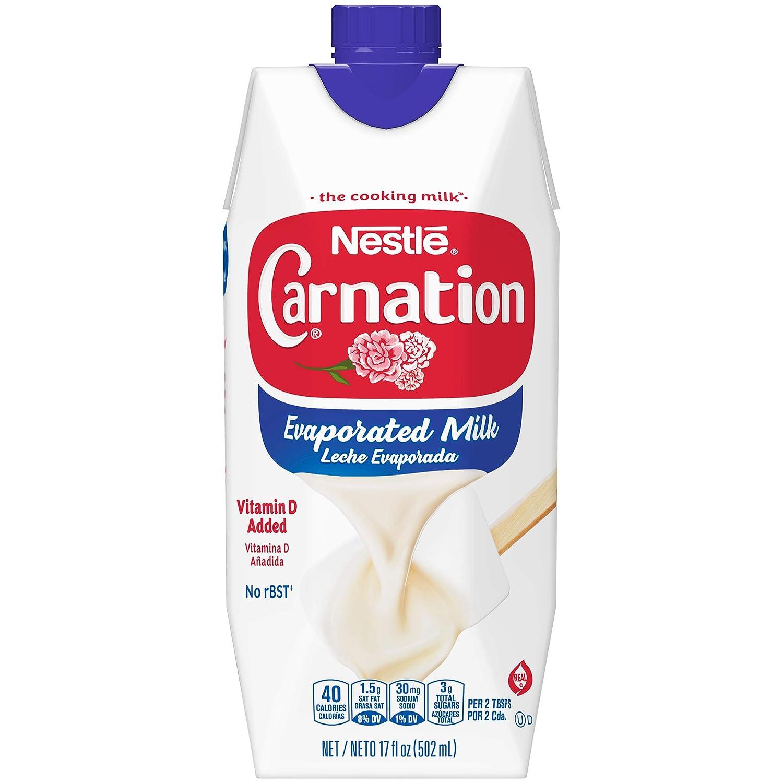 Carnation NESTLE Evaporated Milk 17oz Max 49% OFF 2021 Oz Fl Carton 204 Tetra