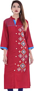 Indian Women's Embroidered Rayon Kurti Top