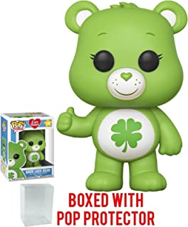 Funko Pop! Animation: Care Bears - Good Luck Bear Vinyl Figure (Bundled with Pop Box Protector Case)