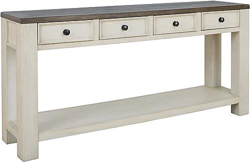 Signature Design by Ashley - Bolanburg Console Table, Brown/White