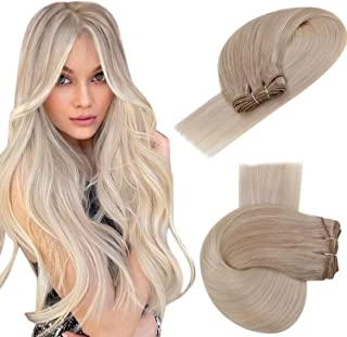 Easyouth Remy Bundels Voor Vrouwen 20 inch 100g Kleur 18/22/60 Asblond Mix Medium Blond En Platinablond Wefted Brazilian Hair