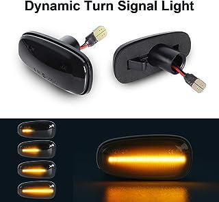 OZ-LAMPE Indicador de giro dinámico Luz de señal de giro Indicadores laterales que fluyen Fumar para O-pel Zafira A Astra G