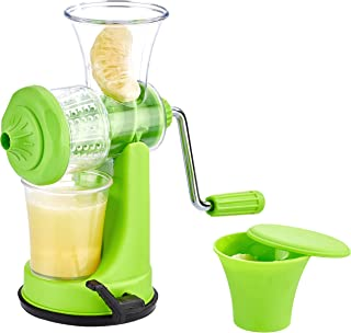 Amazon Brand - Solimo Hand Juicer for Fruits and Vegetables, Green