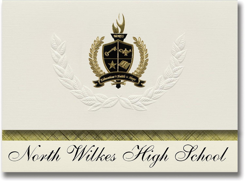 Signature Ankündigungen North Wilkes High School (Hays, (Hays, (Hays, NC) Graduation Ankündigungen, Presidential Stil, Elite Paket 25 Stück mit Gold & Schwarz Metallic Folie Dichtung B078VD1W98 | Sorgfältig ausgewählte Materialien  b78a6c