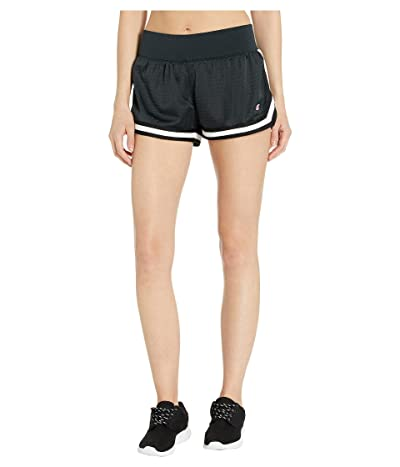 Champion Mesh Notch Shorts (Black) Women