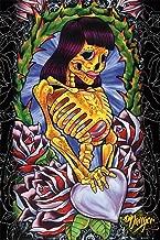 JDH- Skeleton Girl Poster by James Danger Harvey 24 x 36in