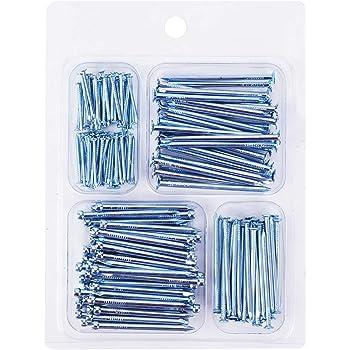 COTODO Hardware Nail Assortment Kit(200pcs), 4 Size Assortment, Galvanized Nails