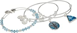 Alex and Ani Blue Lotus Set of 3