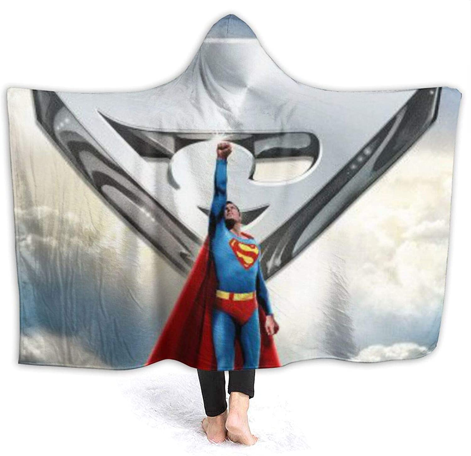 S-Uperman Fantasy Hooded Blanket Adult Don't miss the Trust campaign Four Kids Seasons Soft Wa