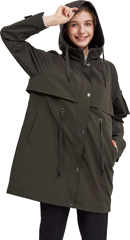Orolay Women's Long Windbreaker Hooded Light Jacket Active Outdoor Anoraks