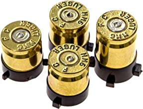 Xbox One Bullet Buttons Raplacement A B X Y Real Bullet Brass Casings Gold Brass w/ Silver Nickel Primer