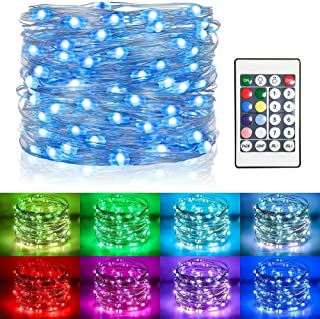 Koopower 100 Led 32Ft Fairy Lights RGB Waterproof Firefly Lights Battery Operated Muticolor Changing String Lights for Bed...