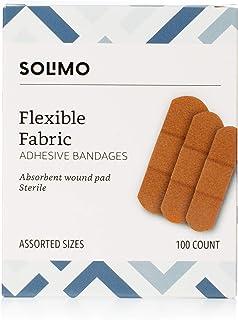 مارک آمازون - باند چسب پارچه انعطاف پذیر Solimo ، اندازه های مختلف ، 100 تعداد