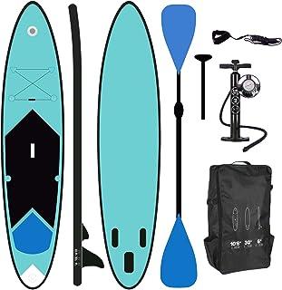 ToCi Standup Paddeling Board XL | 320 x 76 x 15 cm aufblasbares Surfbrett | mit Trage..