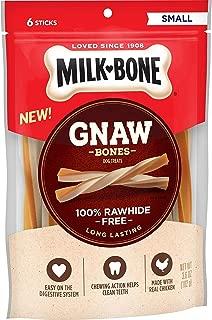 Milk-Bone Gnaw Bones 100% Rawhide Free Long Lasting 6 Sticks (Net Wt 3.6 Oz)