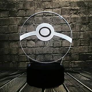 3D Led Usb Lampe Pour Amour Jeu de Bande Dessinée Enfants Jouet Cadeau Chambre Nuit Lumière Décor Décor Les Accessoires Av...