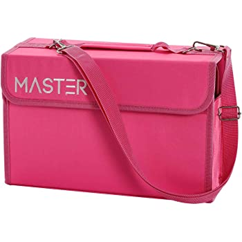 80 Slots Marker Storage Case Premium Heavy-Duty Nylon Zipper Storage Bag
