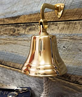 Nautical Premium Polished Brass And Nickel Coated Door Functional Bells | Exclusive Pirate`s Decor Gifts Collectibles | Nagina International (Brass, 3 Inches)