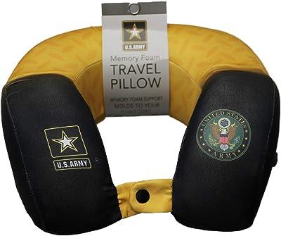 JWM Memory Foam Travel Neck Pillow - Army