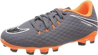 Kids Phantom III Academy FG Soccer Cleats-Grey Orange Size: 4Y