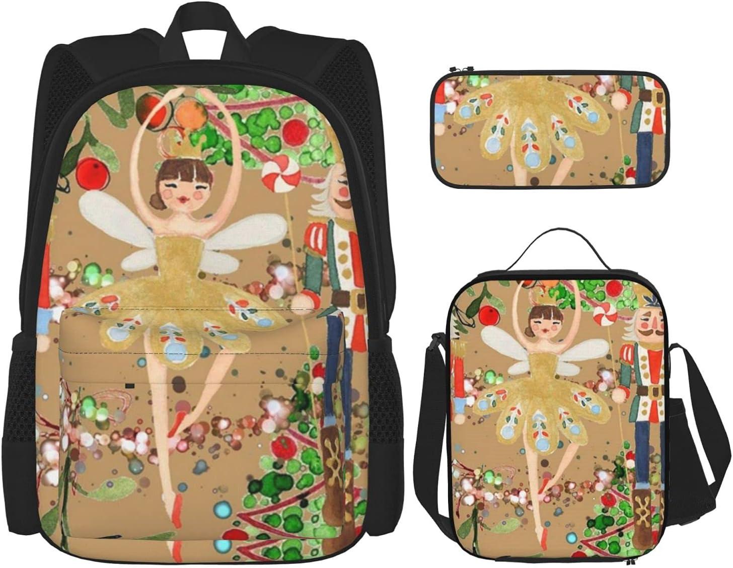 Christmas Gold Nutcracker Backpack Set Boys 3-Piece B Regular store Girls Teen Max 63% OFF