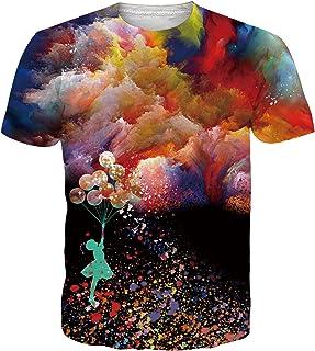 SunFocus Camisetas Manga Corta Hombre Verano Estampado Gráfico 3D Camiseta Divertido Ajuste Slim Casual T Shirt Tops para ...
