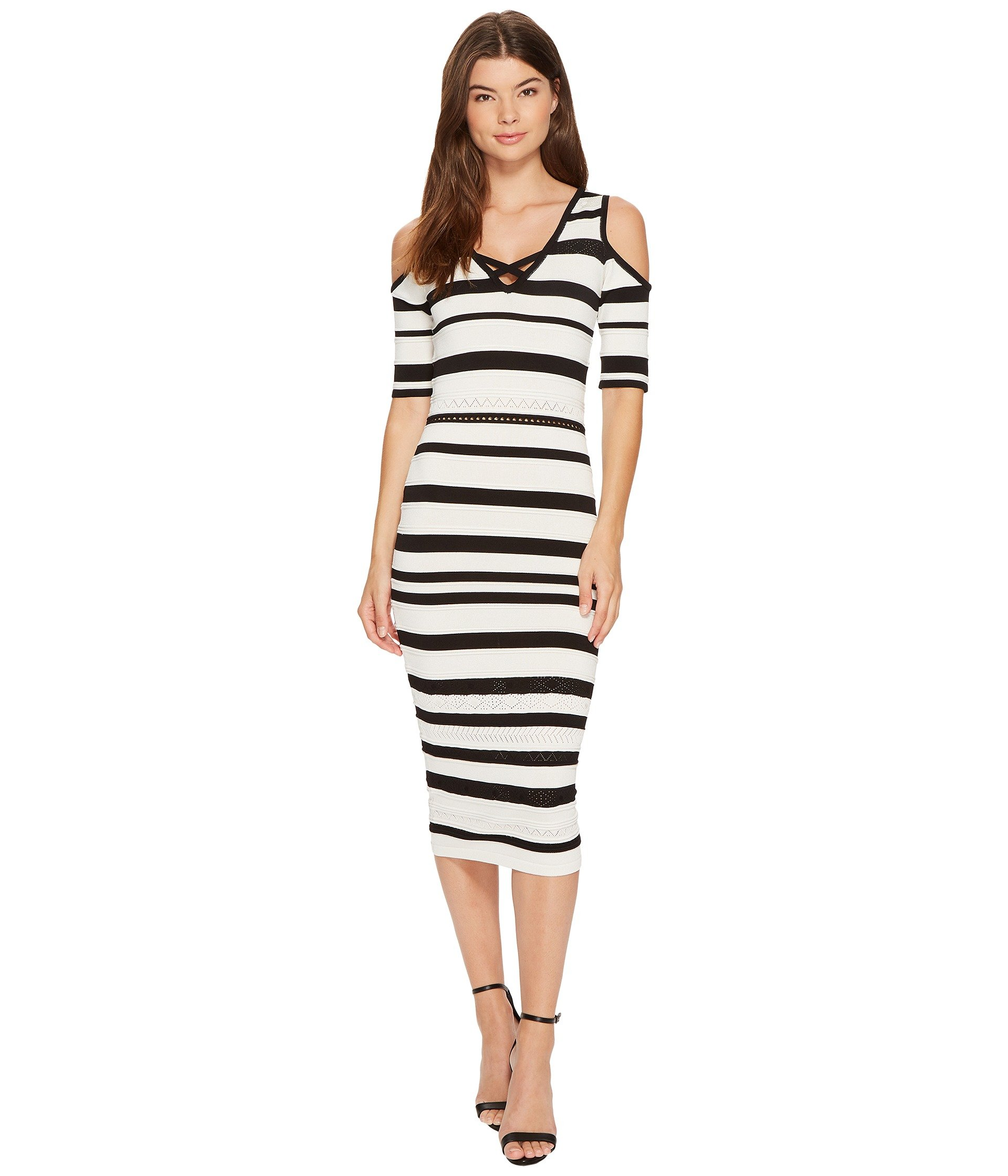 Vestido para Mujer XOXO Pointelle Stitch Stripe Midi Dress  + XOXO en VeoyCompro.net