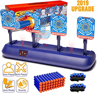Electronic Scoring Auto Reset Shooting Digital Target for Nerf Guns Toys with 40 Pcs Refill Darts and 2 Hand Wrist Bands, Ideal Gift Toy for Kids, Teens, Boys & Girls(2019 Update Version)