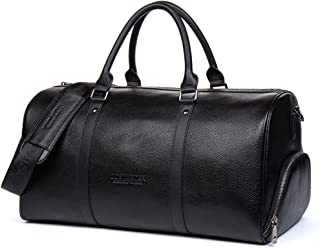 Genuine Leather Travel Weekender Overnight Duffel Bag Gym Sports Luggage Tote Duffle Bags For Men