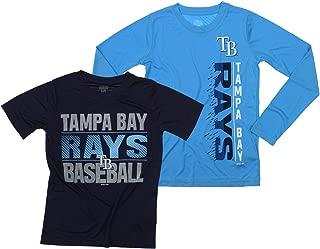 MLB Boys Young Baseball Fan Two Performance T-Shirt Set, Tampa Bay Rays, Small 8