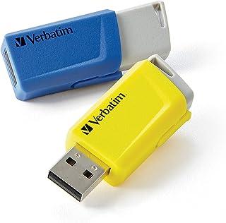 Verbatim 16GB Store 'n' Click USB Flash Drive – 2pk – Blue Yellow