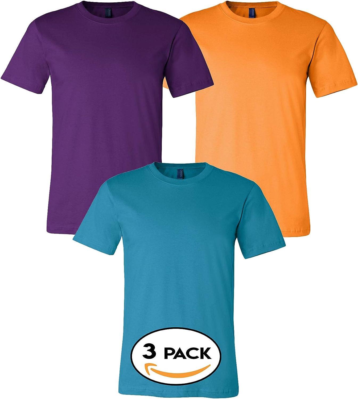 Bella Canvas Multipack Unisex Bundle Bulk T-Shirt 3   6   10 Pack - Make Your Own Assorted Color Set
