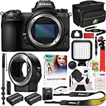 Nikon Z7 Mirrorless Camera Body Only FX-Format Full-Frame 4K Ultra HD with FTZ Mount Adapter for F-Mount Lenses and Deco Gear Travel Gadget Bag Case + Extra Battery & Accessory Kit Software Bundle