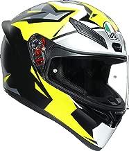AGV K1 Mir 2018 - Matt Black Yellow White Grey - Replica Motorcycle Helmet (ML)