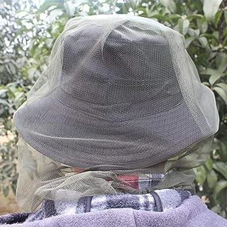蚊ハチ昆虫ネットヘッドプロテクター釣り狩猟ネット帽子マスクキャップ z9u03f1