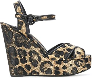 Luxury Fashion | Dolce E Gabbana Women CZ0227AX37689651 Gold Viscose Wedges | Spring-summer 20