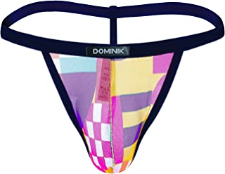 Dominik Abstract Multi Color G-Strings Underwear, Mens
