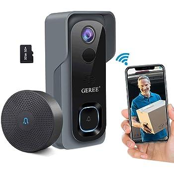 Geree Video Doorbell Camera Wireless WiFi
