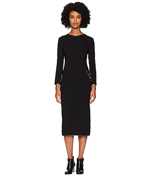 Boutique Moschino Long Sleeve Dress with Chain and Slit