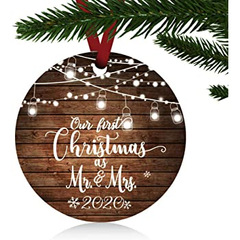 First Married Christmas Ornament 2020 Amazon.com: ZUNON First Christmas Ornaments 2020 Our First