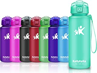 KollyKolla Botella de Agua Deporte - 380ml/500ml/700ml/750ml/1L, Botellas Sin BPA Tritan Plástico Reutilizables Ecológica con Filtro, Water Bottle para Niños & Adultos, Gimnasio, Yoga, Oficina