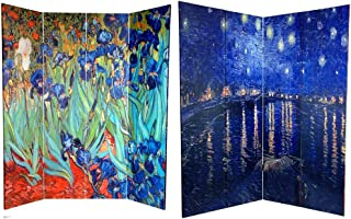 3dRose qs/_155630/_2 Irises by Vincent Van Gogh 1889 Purple Flowers Iris Garden Copy of Famous Painting by The Master Quilt Square 6 by 6