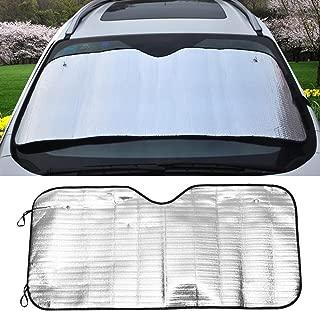 Fliyeong Double Circle Car Windshield Sunshade Foldable Portable Sun Shades UV Protection Car Sun Protector Creative and Useful