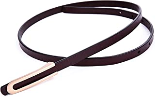 Ayli Women's Skinny Belt, Handcrafted Genuine Leather Belt