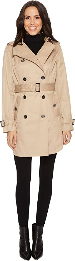 MICHAEL Michael Kors - Double Breasted Belted Trench M722579B74