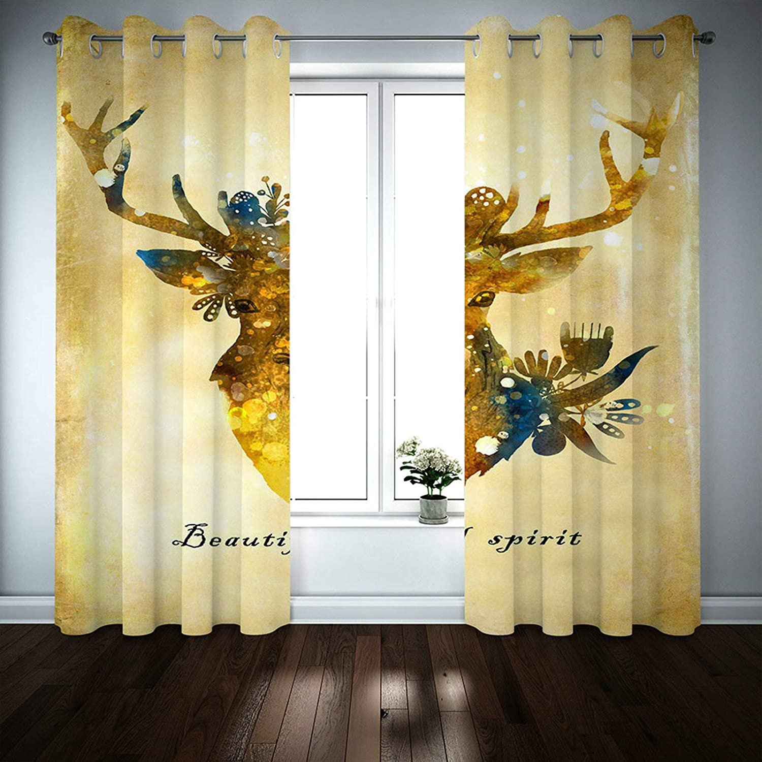 MoAndy Cheap mail order shopping Colorful Blackout Curtains Manufacturer regenerated product Set of 45 x 2 Inch 52 Panels